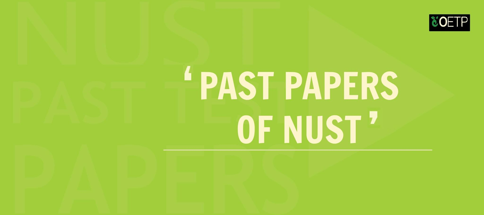 Solved Past Papers of NUST Entry Test - OETP