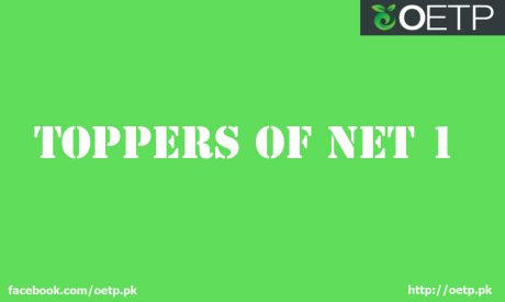 Toppers of NET-1